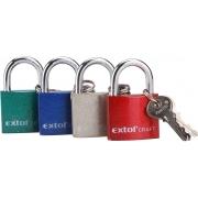 Zámek visací litinový barevný, 32mm, 3 klíče, EXTOL CRAFT