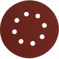 Papír brusný výsek, suchý zip, bal. 10ks, 125mm, P180, 8 otvorů EXTOL-PREMIUM