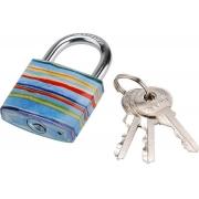 Zámek visací litinový barevný, 38mm, 3 klíče, EXTOL CRAFT
