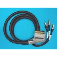 Kabel SCART - 2xCINCH + 1xSVHS 1,5m HGS