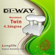 DI-WAY LNB  MONO TWIN  0,1dB 4,3 st