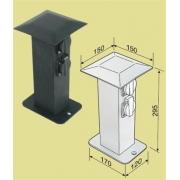 MCJ Hliníkový zahradní sloupek, 3 zásuvky, vypínač, IP44, 29,5 cm, v černé barvě