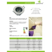 Downlight LED 12W AC85-265V round