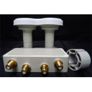 DI-WAY  LNB MONO QUAD 0,1dB 4,3st  Gold konektroy F