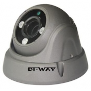 DI-WAY AHD anti-vandal venkovní dome IR kamera 720P, 2,8-12mm, 30 m ,4in1 AHD/TVI/CVI/CVBS