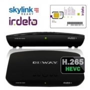 SuperSet: DI-WAY IRD-265HD HEVC + karta Skylink HD M7 Irdeto