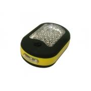 Lampa s magnetem do dílny 24+3 diody ŽLUTÁ