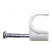 Kabelová příchytka, úchyt kabelu 7 mm KN-7 bílá, 100 ks