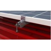 FVE Nosná konstrukce - set pro 4 panely, plechová střecha (klik) , svislé uchycení
