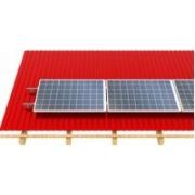 FVE Nosná konstrukce set pro 4 panely, plechová střecha (klik) , vodorovné uchycení