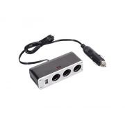 Adaptér  auto-napájecí 1xkon./3x zdířka- 12/24V, USB 1000mA