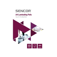 Fólie laminovací SENCOR SLA FA4B250 A4 250mic 100ks