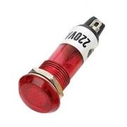 Kontrolka 230V s doutnavkou, červená do otvoru 10mm
