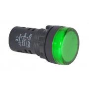 Kontrolka 230V LED 29mm, zelená