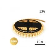 LED pásek 12V 2835  120LED/m IP65 max. 12W/m gold (cívka 10m) zalitý