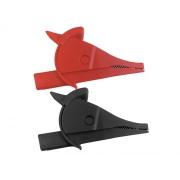 Krokosvorka UNI-T C02A sada-červená+černá L,80mm CAT III 1000V/CAT IV 600V