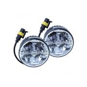 Světla pro denní svícení 4 HIGH POWER LED 12V/24V (kulatá 70 mm)