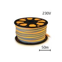 LED neon flexi hadice 230V 92LED/m 7W/m žlutá 50m