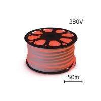 LED neon flexi hadice 230V 120LED/m 12W/m červená 50m