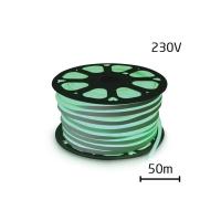 LED neon flexi hadice 230V 120LED/m 12W/m zelená 50m