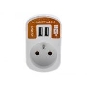 Prodlužovací přívod 1 zásuvka, 2x USB, 5V/2100mA SENCOR SPC 70 WH