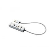 Redukce USB hub YENKEE + čtečka YHC 101SR