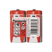 Baterie C (R14) Red  zinkouhlíková, PANASONIC 2S