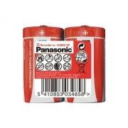 Baterie D (R20) Red  zinkouhlíková, PANASONIC 2S