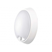 LED přisazené svítidlo s PIR, kruh černá/bílá 14W teplá bílá