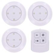 Svítidlo LED s dálkovým ovládáním, 3x 50lm, časovač, bateriové napájení WL906