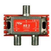 FTE rozbočovač AS 2, rozsah 5-2400 MHz, F-konektor