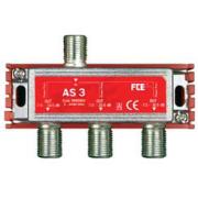 FTE rozbočovač AS 3, rozsah 5-2400 MHz, F-konektor
