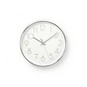 Hodiny analogové NEDIS WHITE / SILVER CLWA015PC30SR 30 cm
