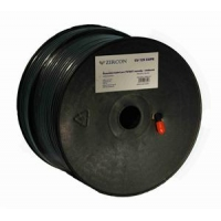 Zircon koaxiální kabel 125 CU CUPE černý 100m