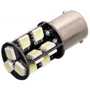 Žárovka 19 SMD LED 12V Ba15S s rezistorem CAN-BUS ready bílá, COMPASS