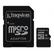 Karta paměťová KINGSTON MICRO SDHC 32GB CLASS 10 + adaptér SDCS/32GB