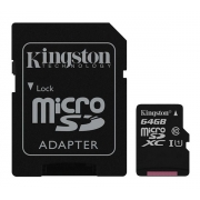 Karta paměťová KINGSTON MICRO SDHC 64GB CLASS 10 + adaptér SDCS/64GB