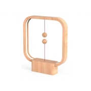 Lampa LED stolní HENG BALANCE SQUARE USB LIGHT WOOD
