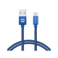 Kabel SWISSTEN USB/USB-C 1,2m modrý