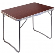 Stůl kempingový skládací BALATON hnědý, CATTARA