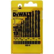 Sada vrtáků do kovu HSS-R DIN 338 DeWALT DT5912, 13 dílná