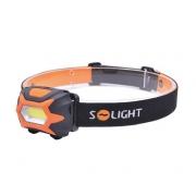 Svítilna SOLIGHT čelovka LED 3W COB, 140lm, 3x AAA, WH25
