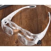 Zvětšovací brýle s lupou, zvětšení 2-4x