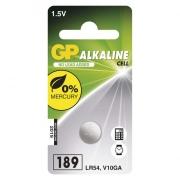 Alkalická knoflíková baterie GP LR54 (189F), blistr
