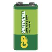 Zinkochloridová baterie GP Greencell 6F22 (9V)