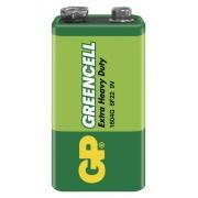 Zinkochloridová baterie GP Greencell 9V, blistr