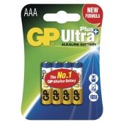 Alkalická baterie GP Ultra Plus LR03 (AAA), blistr