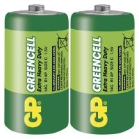 Zinkochloridová baterie GP Greencell R14 (C)