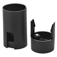 Objímka na žárovku E14 plastová 1253-030, černá