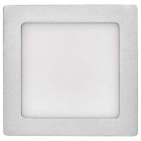 LED panel 170×170, čtvercový přisazený stříbrný, 12W neut.b.